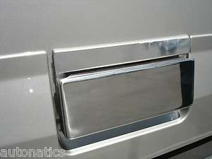 CADILLAC ESCALADE SUV 2002   2006 TFP CHROME TAILGATE LEVER INSERT
