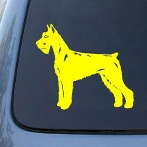 GIANT SCHNAUZER   Dog   Vinyl Car Decal Sticker #1517  Vinyl Color