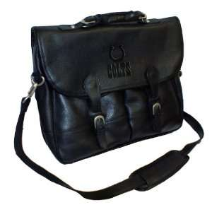 NFL Indianapolis Colts Debossed Black Leather Anglers Bag