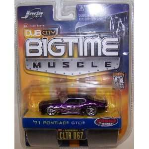 Big Time Muscle 1971 Pontiac Gto in Color Purple No#067 Toys & Games