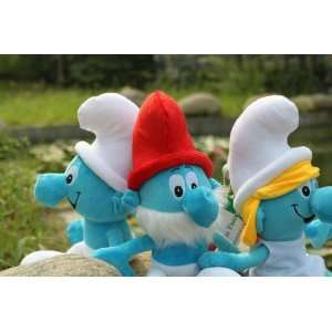 30pcs/lot the smurfs stuffed plush toys dolls moive toys
