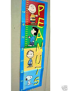 Peanuts Charlie Brown Snoopy Growth chart