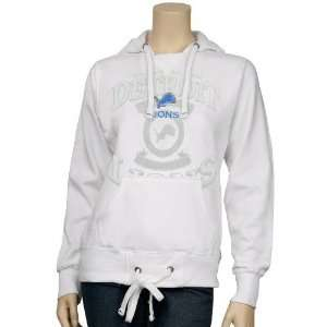 Detroit Lions Ladies White Club Seat Hoody Sweatshirt Sports