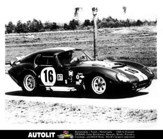 1965 Ford Shelby Cobra Daytona 16 Factory Photograph