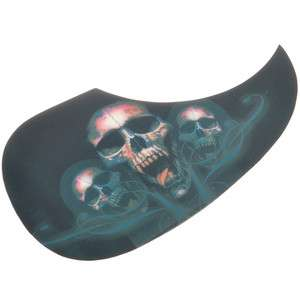 Cool Skull Heads Rock Skeleton Acoustic Celluloid Guitar Pickguard