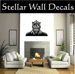 Darth Maul Face Star Wars Wall Car Vinyl Decal Sticker