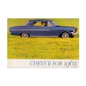 1963 CHEVROLET CHEVY II Sales Brochure Literature Book