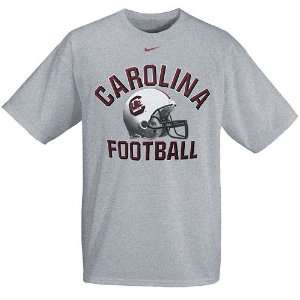 Nike South Carolina Gamecocks Grey Football Helmet T shirt