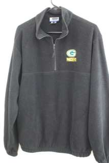 Green Bay Packers Mens M 1/4 Zip Fleece Sweater Reebok