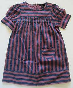 Little Marc Jacobs Kids/ Girls Isis Striped Dress, size 3 to 10, NWT