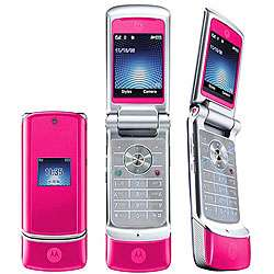 K1 KRZR Pink Unlocked GSM Flip Bluetooth Phone