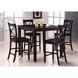 Carey 5 piece Merlot Pub Table Dining Chairs Set