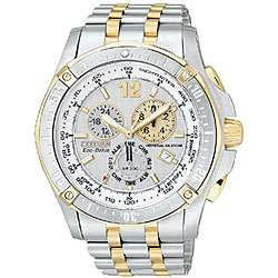 Citizen Eco Drive Mens Two tone Chronograph Sport Watch