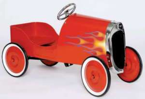 34 Classic RED Hot Rod Pedal Car FREE SHIP NEW