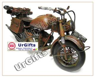 Hand Made Art Bar Decor Military Motorcycle 1/6 BMW R75 1942