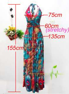Women Sexy Summer Long Maxi Dress Beach Cocktail Evening Dress Skirt