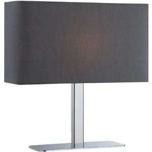 Low Profile Table Lamp  Black