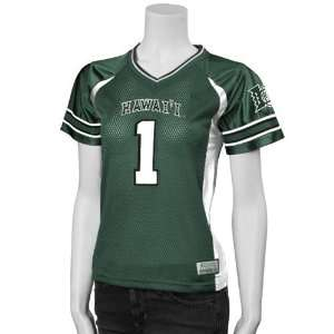 Hawaii Warriors #1 Green Ladies Football Jersey