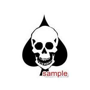 EVIL AND SKULLS SKULLS 01 13 WHITE VINYL DECAL STICKER