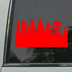 Futurama Red Decal City Town Car Truck Window Red Sticker