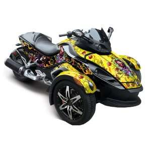 Ed Hardy AMR Racing Fits Can Am BRP Spyder Graphic Decal Wrap