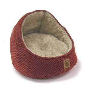 Precision Pet Products Hooded Cat Bed in Dark Rust Dogs