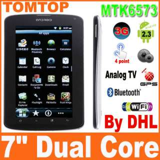 Android 2.3 MTK6573 Tablet PC Dual SIM 3G GSM GPS Bluetooth Camera