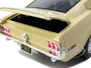 18 scale diecast car model of 1968 ford mustang cj cobra jet yellow