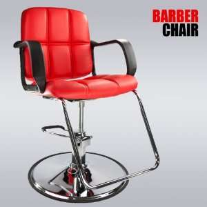 Red Modern Fashion Classic Hydraulic Barber Chair Hair Styling Salon