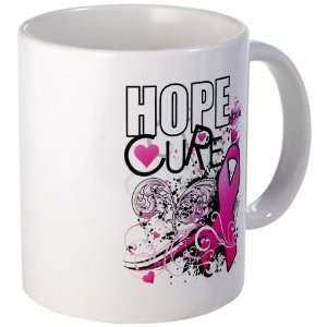 Mug (Coffee Drink Cup) Cancer Hope for a Cure   Pink