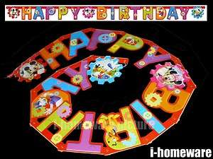 Mickey Mouse Happy Birthday Letter Banner Flag m373
