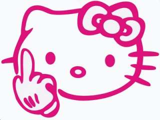 BACK OFF Hello Kitty Car Motor Truck Auto Window Graphic Decal Sticker