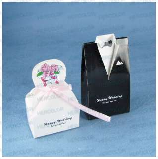 40 Personalized Wedding Dress Tuxedo Favor Gift Boxes