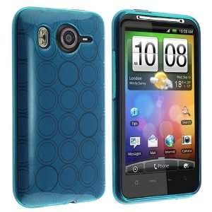 Skin Case for HTC Desire HD, Clear Frost Blue Circle Electronics