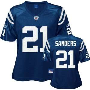 Bob Sanders Blue Reebok Replica Indianapolis Colts Womens Jersey