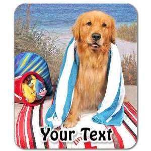 Golden Retriever Personalized Mouse Pad Electronics