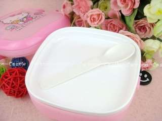 Hello Kitty Pink Plastic Lunch Box Container