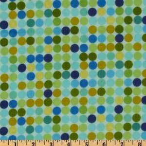 44 Wide Urban Flannel Dots Blue Fabric By The Yard Arts