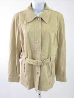 MICHAEL BY MICHAEL KORS Tan Suede Jacket Coat Sz L