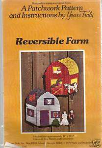 1979 Fabric Farm Barn Animals To Sew Pattern 14x15.5