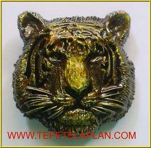 NEW TIGER YELLOW ANIMAL JUNGLE CAT HEAD 3 D BELT BUCKLE