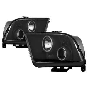 05 09 Ford Mustang Black CCFL Halo Projector Headlights Automotive
