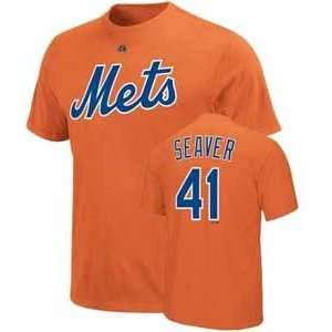 New York Mets Tom Seaver Name and Number T Shirt   Small