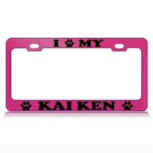 I LOVE MY HAVANESE Dog Pet Auto License Plate Frame Tag