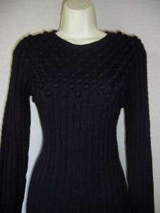 JESSICA HOWARD Navy Blue Long Sleeve Empire Sweater Dress S 4 6 NWT