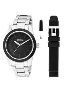 Kenneth Cole Reaction Watch RK6009 Womens Black Dial Silver Tone Base