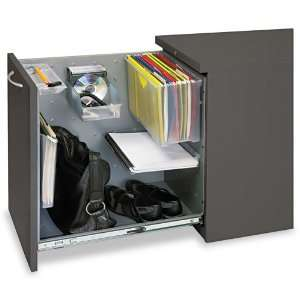 Pantry style, pull out drawer.   Steel ball bearing suspension slides