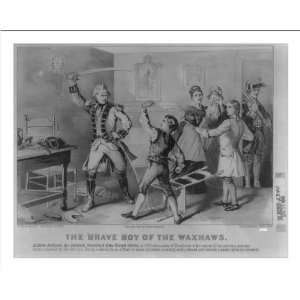 Historic Print (M) The brave boy of the Waxhaws