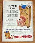 1953 Philip Morris Cigarette Ad I Love Lucy Lucille Ball