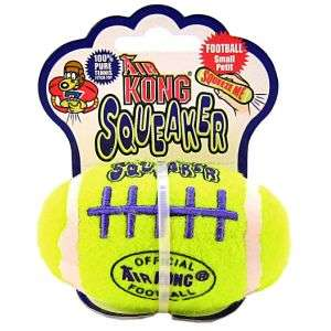 Kong Air Football Squeaker Dog Toy Large Floats Tennis